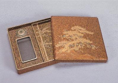松竹梅蒔絵硯箱
